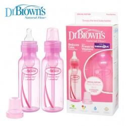 Set de Teteros 2 piezas natural de propileno 250ml rosado Dr Brown's