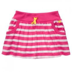 Falda de algodón de rallas