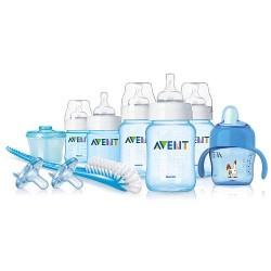 Set de regalo esencial completo AVENT libre de BPA Azul