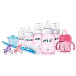 Set de regalo esencial completo AVENT libre de BPA rosado