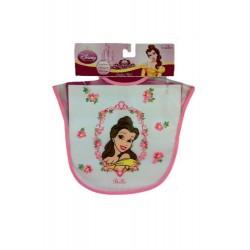Babero de princesa Bella color rosado 1 unidad Disney Princess