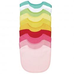 Set de baberos 10 piezas impermeables y absorbentes,colores variados para Niñas